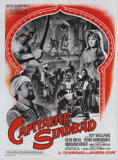 Captain Sindbad - French Movie Poster