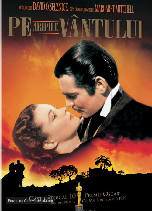 Gone with the Wind - Romanian DVD movie cover