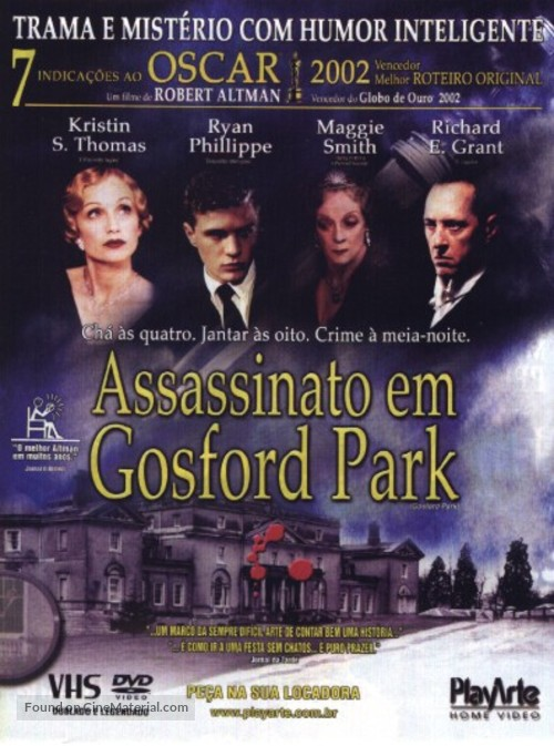 Gosford Park - Brazilian Video release poster