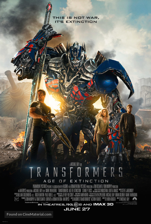 Transformers: Age of Extinction - Theatrical movie poster