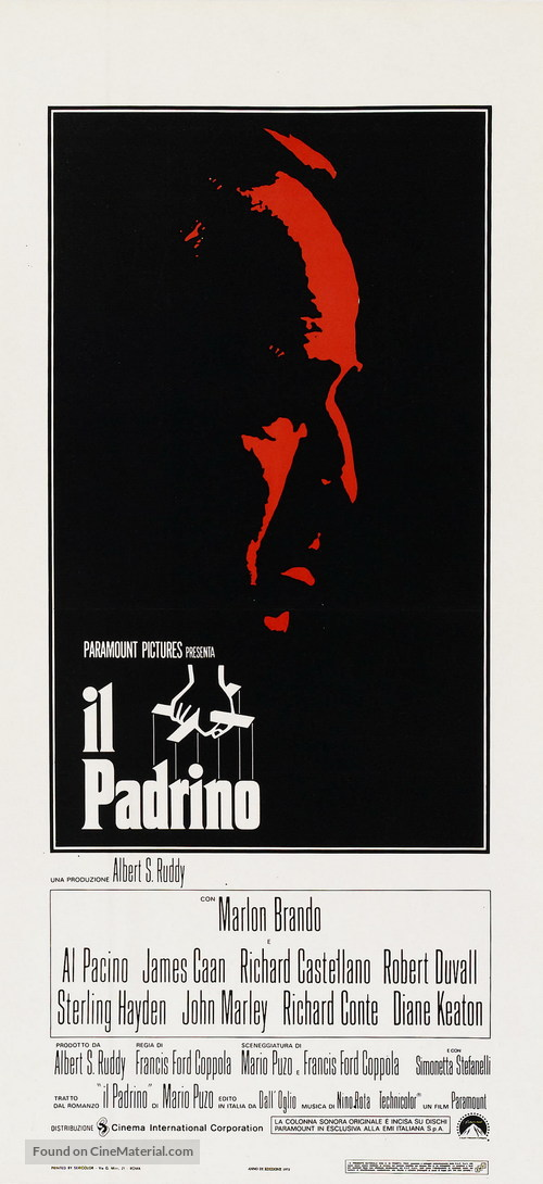 The Godfather - Italian Movie Poster