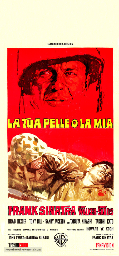 None But the Brave - Italian Movie Poster