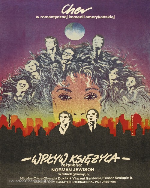 Moonstruck - Polish Movie Poster