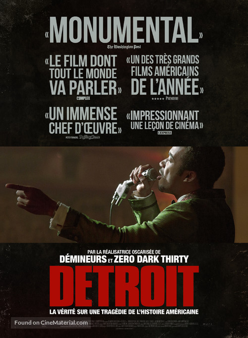 Detroit - French Movie Poster