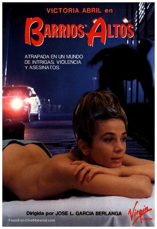 Barrios altos - Spanish Movie Poster