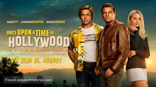 Once Upon a Time in Hollywood - Danish Movie Poster