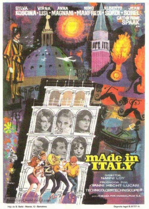 Made in Italy - Spanish Movie Poster