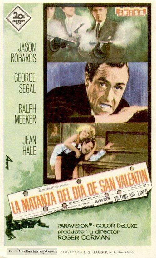 The St Valentine S Day Massacre Spanish Movie Poster