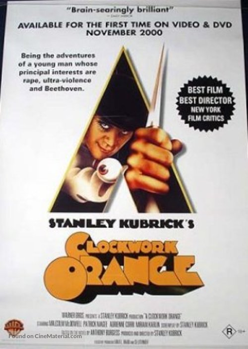 A Clockwork Orange - Australian Movie Poster