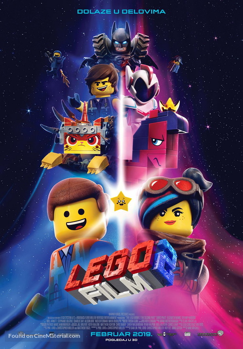 The Lego Movie 2: The Second Part - Serbian Movie Poster