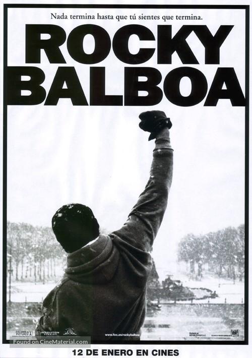 Rocky Balboa - Spanish Movie Poster
