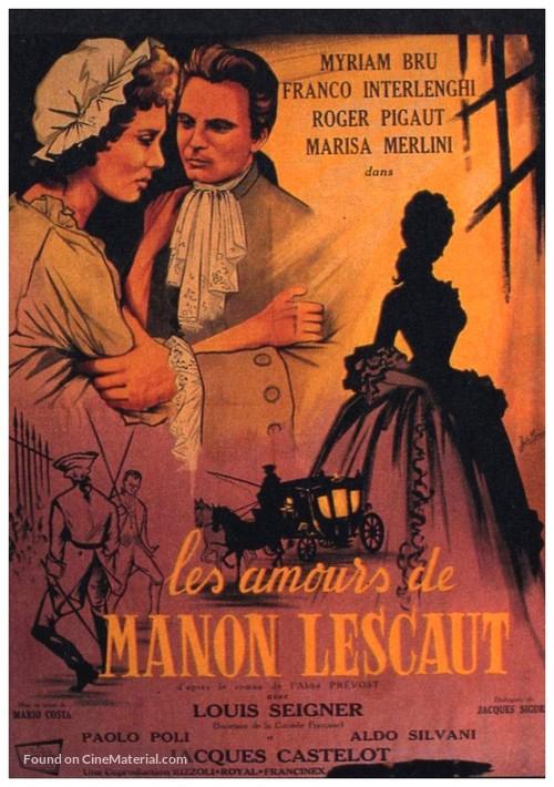 Amori di Manon Lescaut, Gli - French Movie Poster