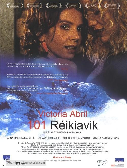 101 Reykjavík - Spanish Movie Poster