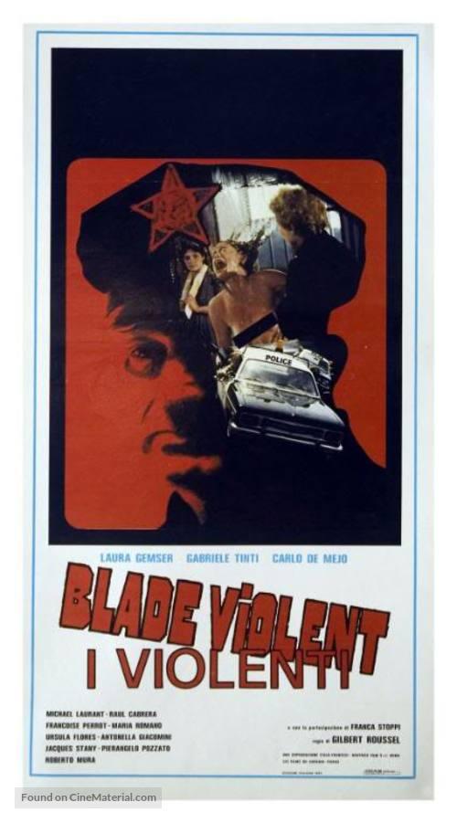 Blade Violent - I violenti - Italian Movie Poster