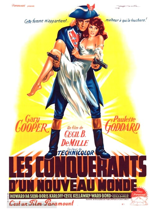 Unconquered - French Movie Poster