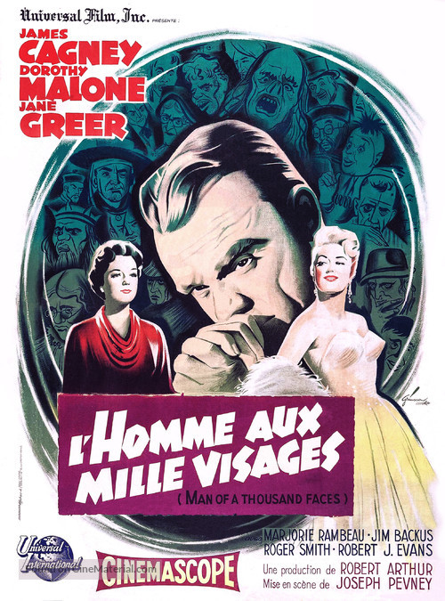 Man of a Thousand Faces - French Movie Poster