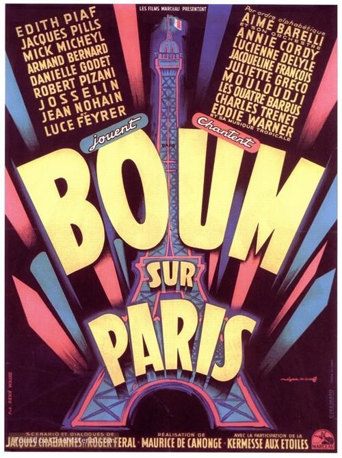 Boum sur Paris - French Movie Poster