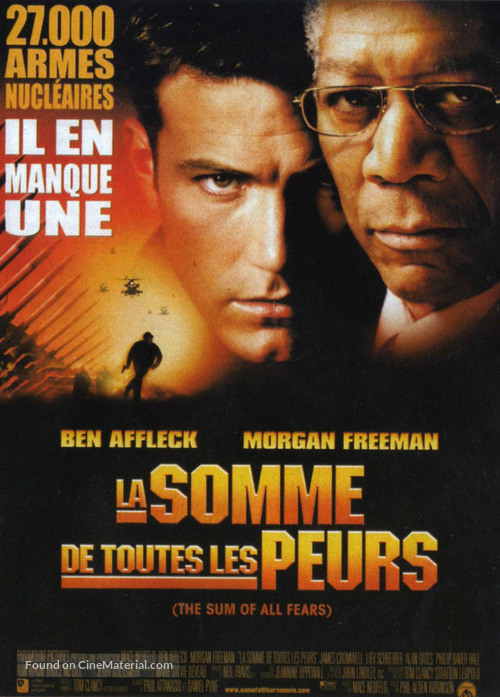 The Sum Of All Fears - French Movie Poster