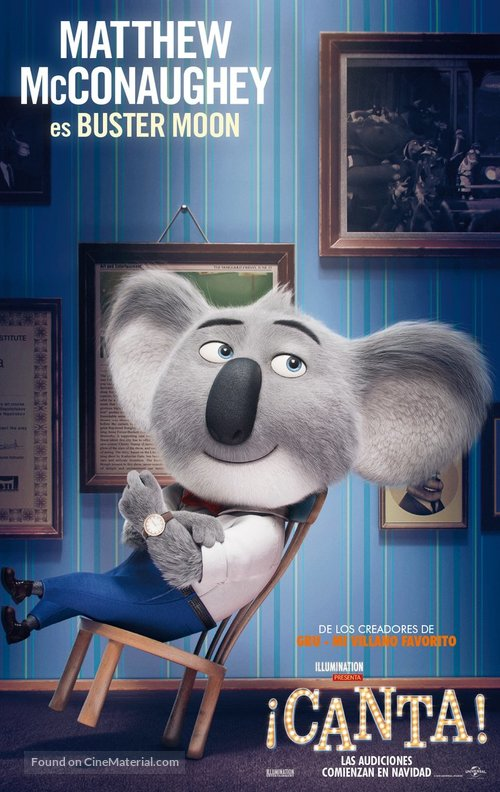 Sing - Spanish Movie Poster