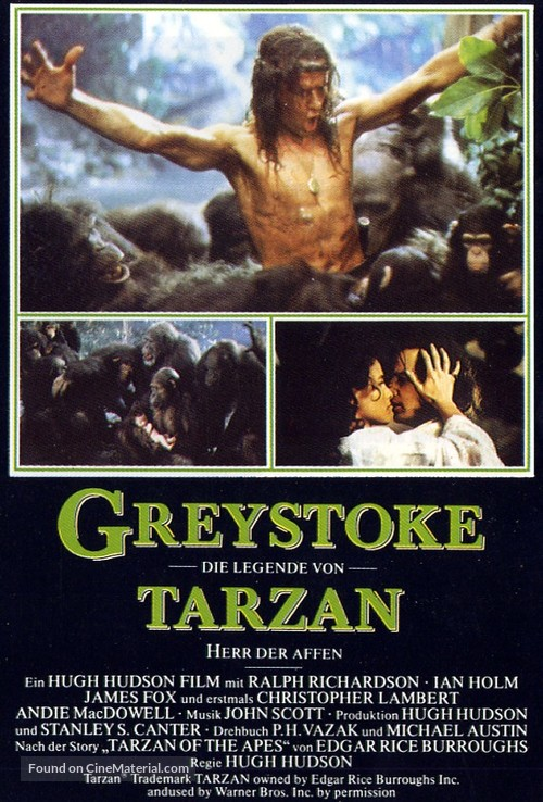 Greystoke - German Movie Poster