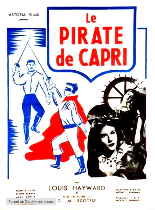 I pirati di Capri - French Movie Poster