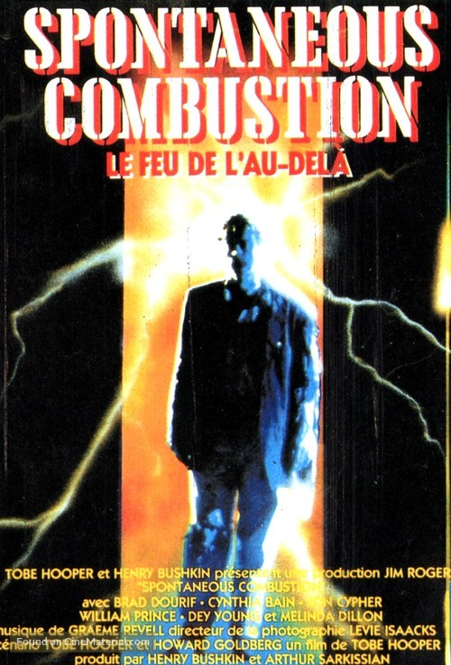 Spontaneous Combustion - French VHS movie cover