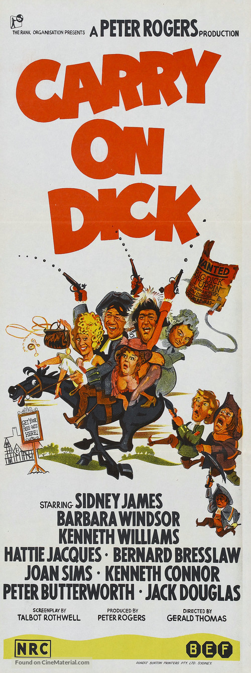 Carry on Dick - Australian Movie Poster