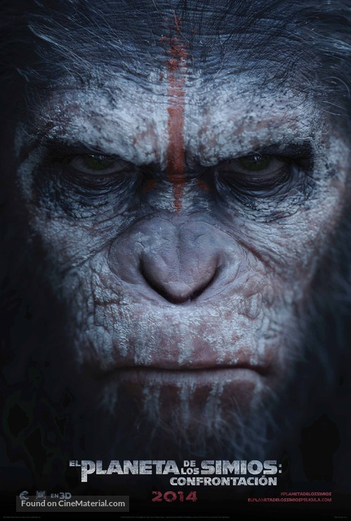 Dawn of the Planet of the Apes - Mexican Movie Poster
