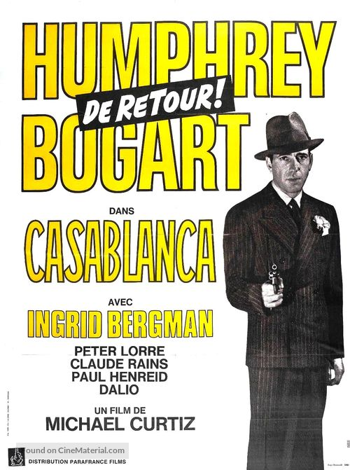Casablanca - French Movie Poster