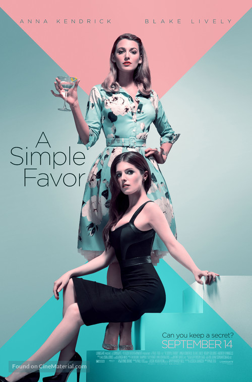 A Simple Favor - Theatrical poster