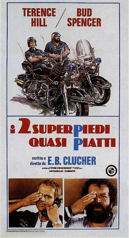 I due superpiedi quasi piatti - Italian Movie Poster
