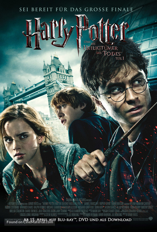Harry Potter and the Deathly Hallows: Part I - German Video release poster