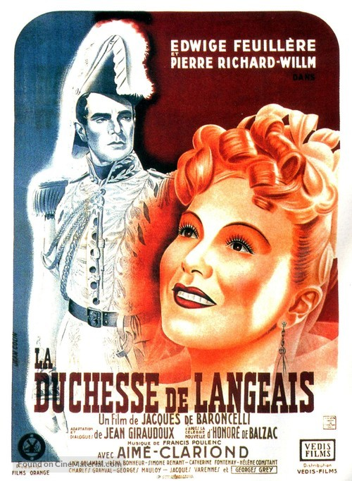 La duchesse de Langeais - French Movie Poster