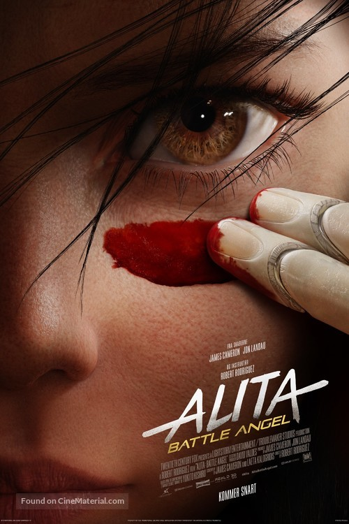 Alita: Battle Angel - Danish Movie Poster