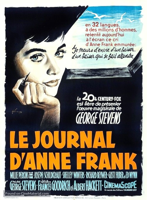 The Diary of Anne Frank - French Movie Poster