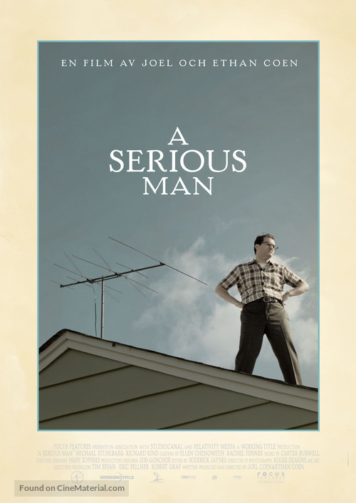 A Serious Man - Swedish Movie Poster