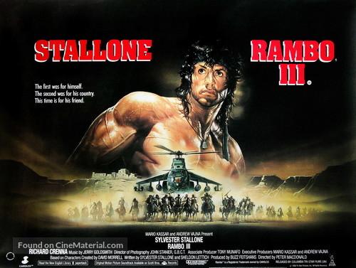 Rambo III - British Movie Poster