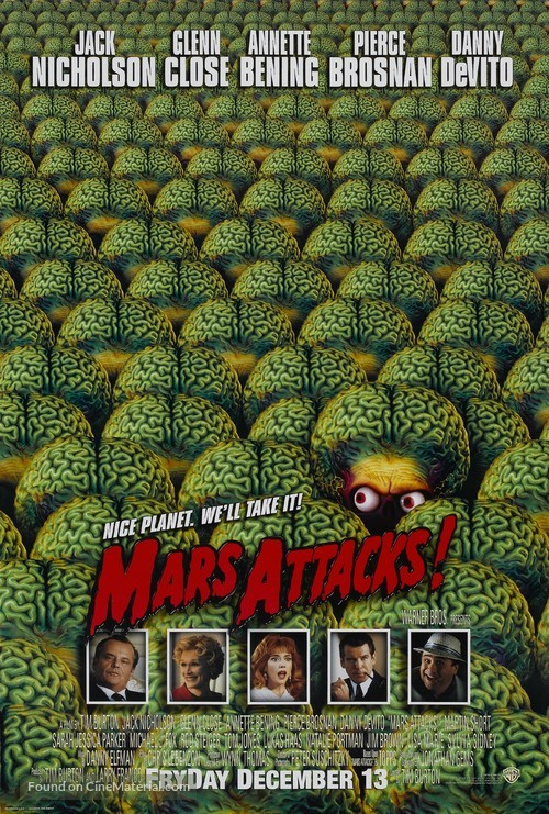 Mars Attacks! - Theatrical movie poster