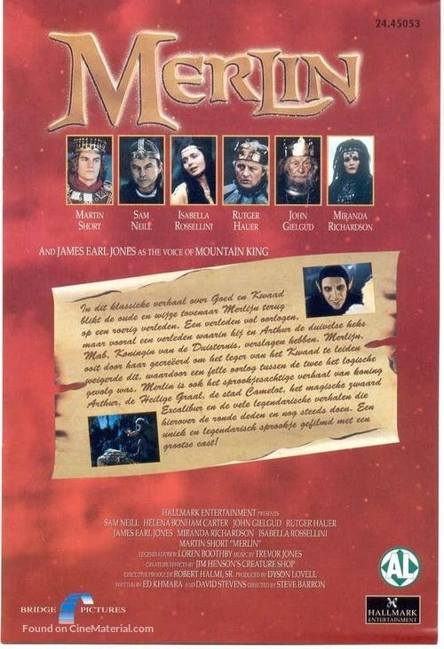 Merlin - Dutch DVD movie cover