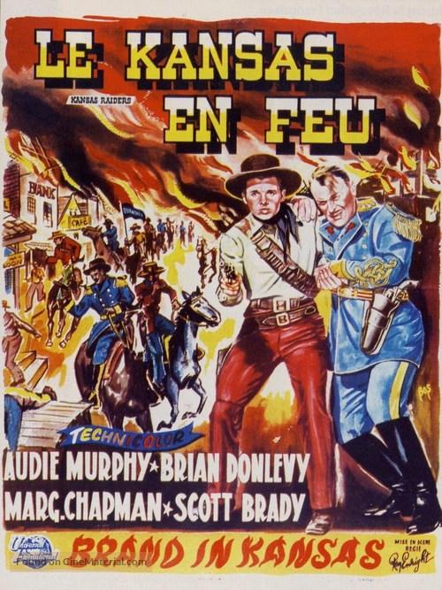 Kansas Raiders - Belgian Movie Poster