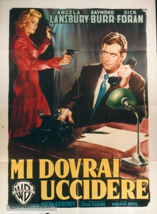 Please Murder Me - Italian Movie Poster
