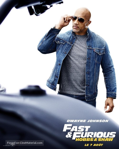 Fast & Furious Presents: Hobbs & Shaw - French Movie Poster
