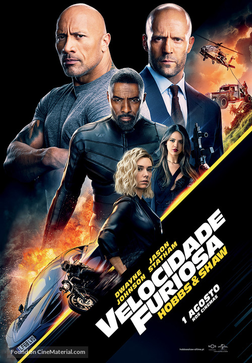 Fast & Furious Presents: Hobbs & Shaw - Portuguese Movie Poster