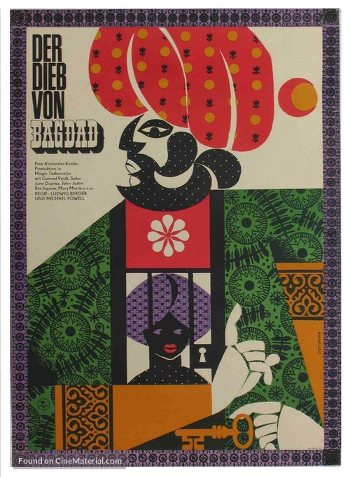 The Thief of Bagdad - German Movie Poster