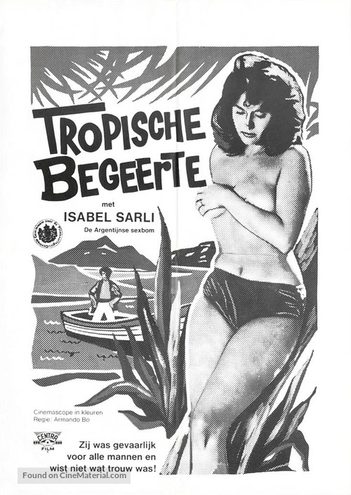 Lujuria tropical - Dutch Movie Poster