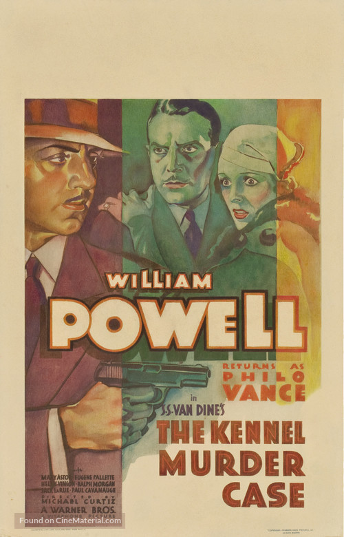 The Kennel Murder Case - Theatrical movie poster