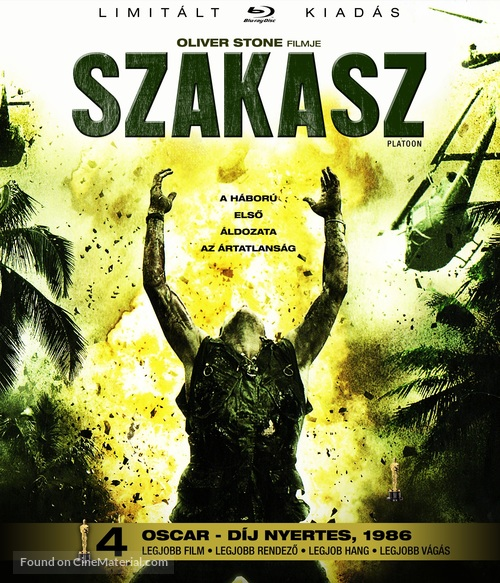 Platoon - Hungarian Blu-Ray cover