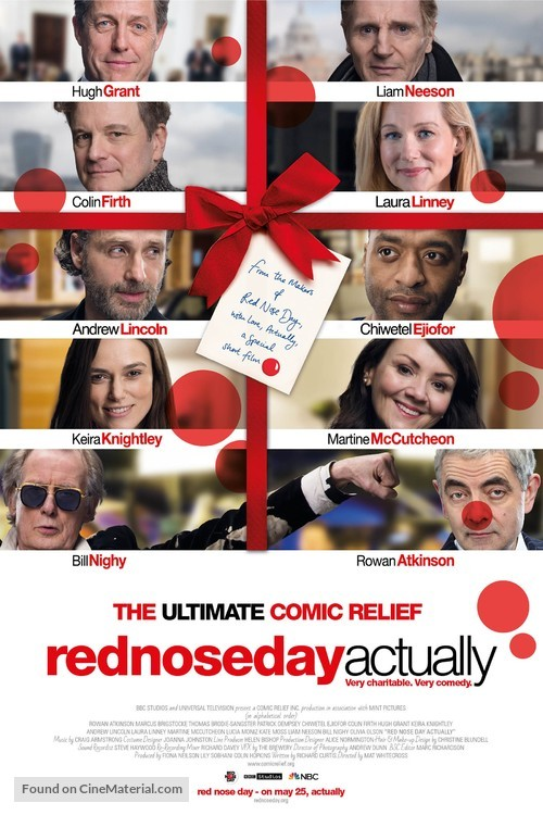Red Nose Day Actually - British Movie Poster