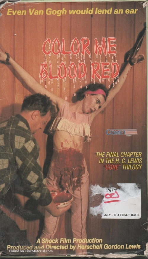 Color Me Blood Red - VHS cover