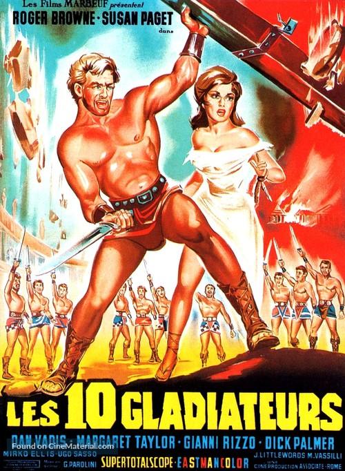 Dieci gladiatori, I - French Movie Poster
